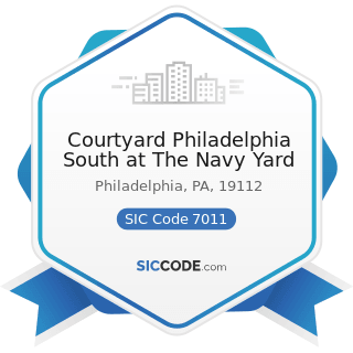 Courtyard Philadelphia South at The Navy Yard - SIC Code 7011 - Hotels and Motels