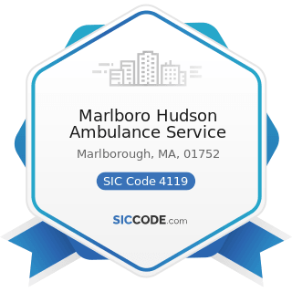 Marlboro Hudson Ambulance Service - SIC Code 4119 - Local Passenger Transportation, Not...