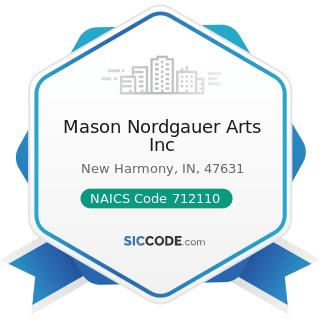 Mason Nordgauer Arts Inc - NAICS Code 712110 - Museums