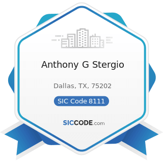 Anthony G Stergio - SIC Code 8111 - Legal Services