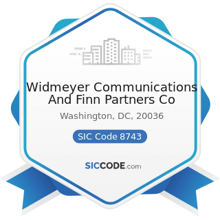 Widmeyer Communications And Finn Partners Co - SIC Code 8743 - Public Relations Services