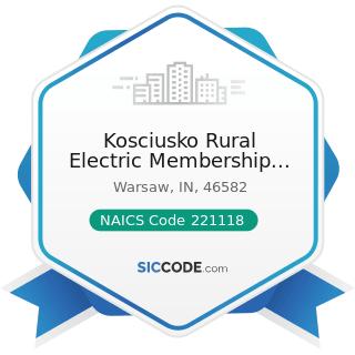 Kosciusko Rural Electric Membership Corp - NAICS Code 221118 - Other Electric Power Generation