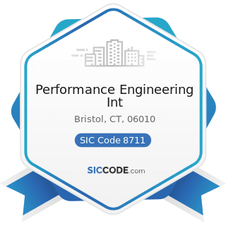 Performance Engineering Int - SIC Code 8711 - Engineering Services