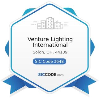 Venture Lighting International - SIC Code 3648 - Lighting Equipment, Not Elsewhere Classified