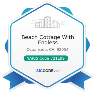 Beach Cottage With Endless - NAICS Code 721199 - All Other Traveler Accommodation