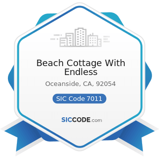 Beach Cottage With Endless - SIC Code 7011 - Hotels and Motels
