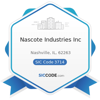 Nascote Industries Inc - SIC Code 3714 - Motor Vehicle Parts and Accessories