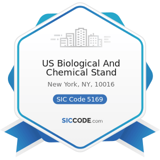 US Biological And Chemical Stand - SIC Code 5169 - Chemicals and Allied Products, Not Elsewhere...