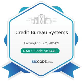 Credit Bureau Systems - NAICS Code 561440 - Collection Agencies