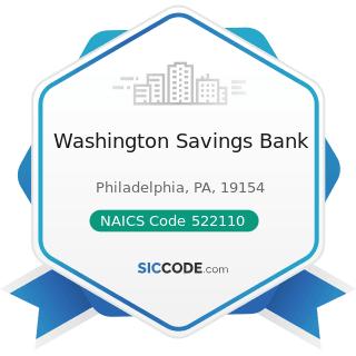 Washington Savings Bank - NAICS Code 522110 - Commercial Banking