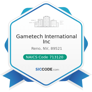 Gametech International Inc - NAICS Code 713120 - Amusement Arcades