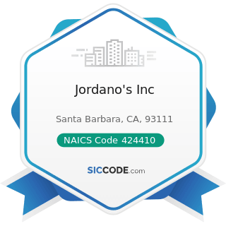 Jordano's Inc - NAICS Code 424410 - General Line Grocery Merchant Wholesalers