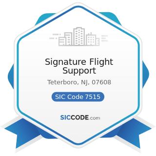 Signature Flight Support - SIC Code 7515 - Passenger Car Leasing