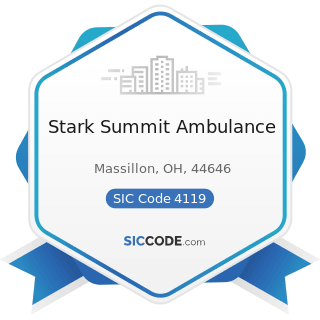 Stark Summit Ambulance - SIC Code 4119 - Local Passenger Transportation, Not Elsewhere Classified