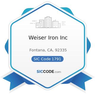 Weiser Iron Inc - SIC Code 1791 - Structural Steel Erection