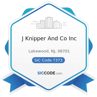J Knipper And Co Inc - SIC Code 7373 - Computer Integrated Systems Design