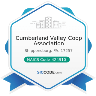 Cumberland Valley Coop Association - NAICS Code 424910 - Farm Supplies Merchant Wholesalers