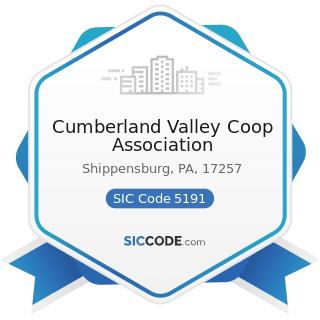 Cumberland Valley Coop Association - SIC Code 5191 - Farm Supplies