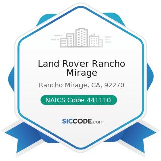 Land Rover Rancho Mirage - NAICS Code 441110 - New Car Dealers