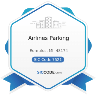 Airlines Parking - SIC Code 7521 - Automobile Parking
