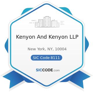 Kenyon And Kenyon LLP - SIC Code 8111 - Legal Services