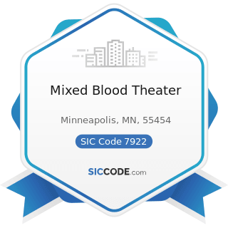 Mixed Blood Theater - SIC Code 7922 - Theatrical Producers (except Motion Picture) and...