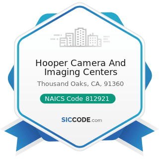 Hooper Camera And Imaging Centers - NAICS Code 812921 - Photofinishing Laboratories (except...