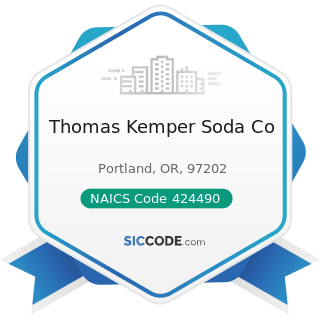 Thomas Kemper Soda Co - NAICS Code 424490 - Other Grocery and Related Products Merchant...
