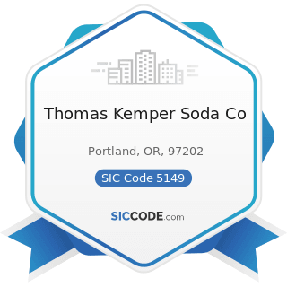 Thomas Kemper Soda Co - SIC Code 5149 - Groceries and Related Products, Not Elsewhere Classified