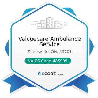 Valcuecare Ambulance Service - NAICS Code 485999 - All Other Transit and Ground Passenger...