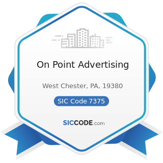 On Point Advertising - SIC Code 7375 - Information Retrieval Services