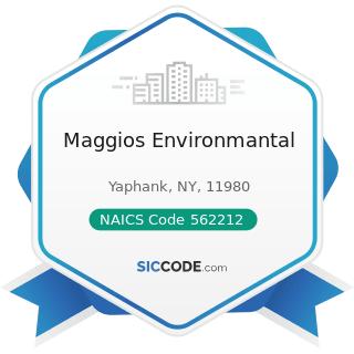 Maggios Environmantal - NAICS Code 562212 - Solid Waste Landfill
