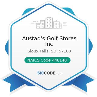 Austad's Golf Stores Inc - NAICS Code 448140 - Family Clothing Stores