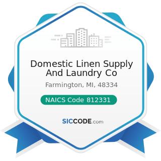 Domestic Linen Supply And Laundry Co - NAICS Code 812331 - Linen Supply