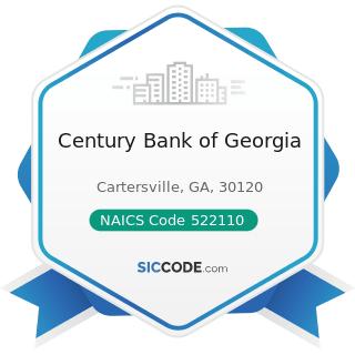 Century Bank of Georgia - NAICS Code 522110 - Commercial Banking