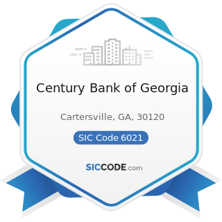 Century Bank of Georgia - SIC Code 6021 - National Commercial Banks