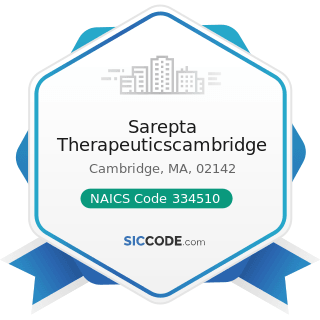 Sarepta Therapeuticscambridge - NAICS Code 334510 - Electromedical and Electrotherapeutic...