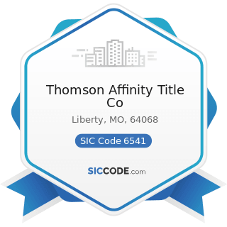 Thomson Affinity Title Co - SIC Code 6541 - Title Abstract Offices