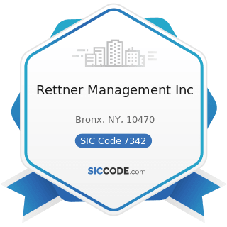 Rettner Management Inc - SIC Code 7342 - Disinfecting and Pest Control Services