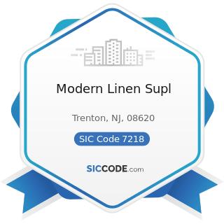 Modern Linen Supl - SIC Code 7218 - Industrial Launderers