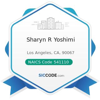 Sharyn R Yoshimi - NAICS Code 541110 - Offices of Lawyers