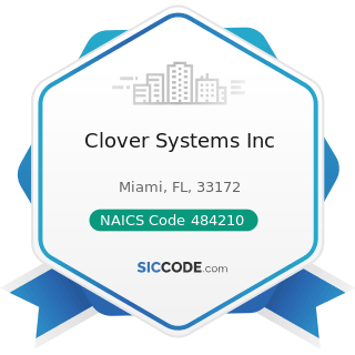 Clover Systems Inc - NAICS Code 484210 - Used Household and Office Goods Moving