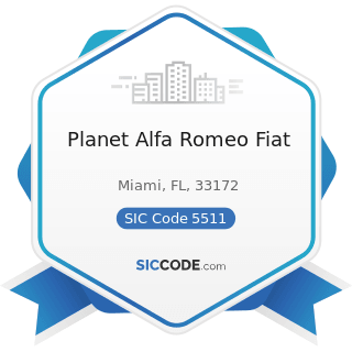 Planet Alfa Romeo Fiat - SIC Code 5511 - Motor Vehicle Dealers (New and Used)