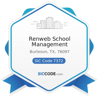 Renweb School Management - SIC Code 7372 - Prepackaged Software