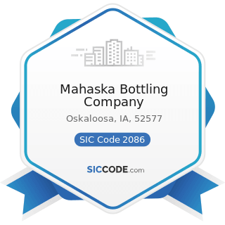 Mahaska Bottling Company - SIC Code 2086 - Bottled and Canned Soft Drinks and Carbonated Waters