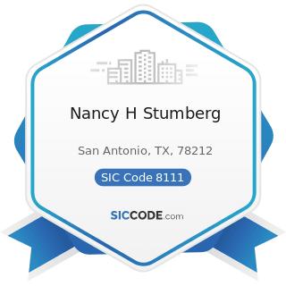 Nancy H Stumberg - SIC Code 8111 - Legal Services