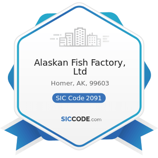 Alaskan Fish Factory, Ltd - SIC Code 2091 - Canned and Cured Fish and Seafoods