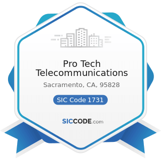 Pro Tech Telecommunications - SIC Code 1731 - Electrical Work