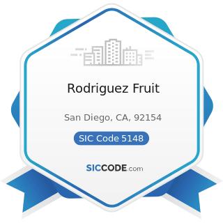 Rodriguez Fruit - SIC Code 5148 - Fresh Fruits and Vegetables