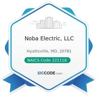 Noba Electric, LLC - NAICS Code 221118 - Other Electric Power Generation